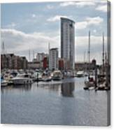 Swansea Marina Canvas Print