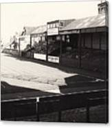 Swansea - Vetch Field - North Bank 1 - Bw - 1960s Canvas Print