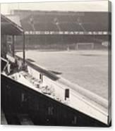 Swansea - Vetch Field - West Terrace 2 - Bw - 1960s Canvas Print