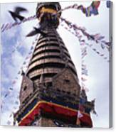 Swayambhunath Canvas Print