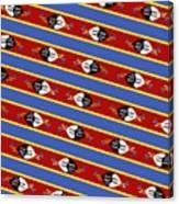 Swaziland Flag 3 Canvas Print