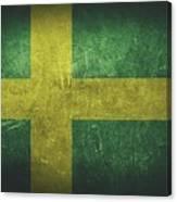 Sweden Distressed Flag Dehner Canvas Print