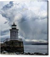 Sweeping Clouds Over Bug Light Canvas Print