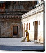 Sweeping Inside Of Amber Palace Canvas Print