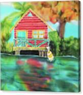 Sweet Island Home Canvas Print