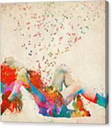 Sweet Jenny Bursting With Music Canvas Print