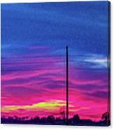 Sweet Nebraska Sunset 006 Canvas Print