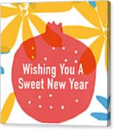 Sweet New Year Card- Art By Linda Woods Canvas Print