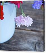 Sweet Pea And Corn Flowers Canvas Print