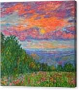 Sweet Pea Morning On The Blue Ridge Canvas Print