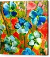 Sweet Peas From Japan Canvas Print