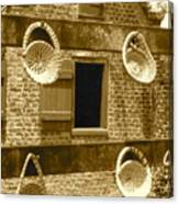 Sweetgrass Baskets And Slave Shack Canvas Print