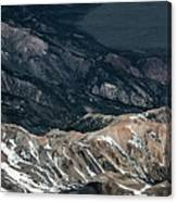 Sweetwater Mountains On California Nevada Border Aerial Photo Canvas Print