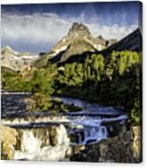 Swiftcurrent Falls Glacier Park 3 Canvas Print