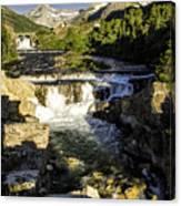 Swiftcurrent Falls Glacier Park 4 Canvas Print