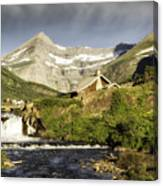 Swiftcurrent Falls Glacier Park Canvas Print