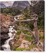 Swiftcurrent Lake Falls Canvas Print