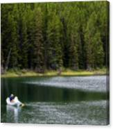 Swiftcurrent Lake Many Glacier Montana Canvas Print
