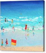 Swim Day Canvas Print