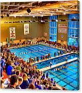 Swim Meet Canvas Print