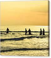 Swim Time Canvas Print