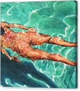 Swimmer 21 Canvas Print