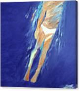 Swimmer Ascending Canvas Print