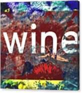Swimming In Wine Canvas Print