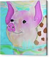 Swimming Piggy Canvas Print