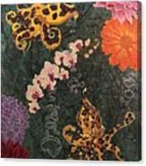 Swimming Through Flowers Canvas Print