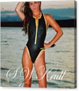 Swimsuit Girl Ad Canvas Print