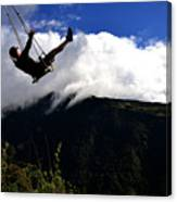 Swing At The End Of The World Canvas Print