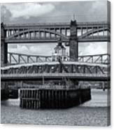Swing Bridge Canvas Print