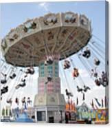 Swing Carousel At County Fair Canvas Print