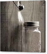 Jar And Bottle  Canvas Print