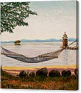 Swingin On Sebago Canvas Print