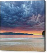 Swirling Cloudy Sunrise Seascape Canvas Print