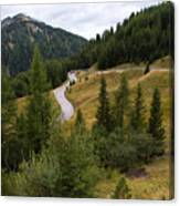Swirling Mountain Road Canvas Print