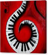 Swirling Piano Keys- Music In Motion Canvas Print