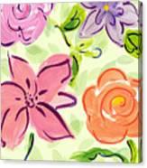 Swirly Flowers Canvas Print