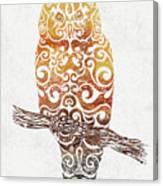 Swirly Owl Canvas Print