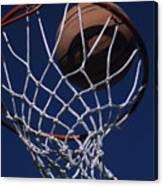 Swish.  A Basketball Canvas Print