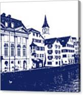 Swiss City Canvas Print