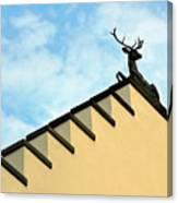 Swiss Deer On Zurich Rooftop Canvas Print
