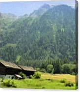 Swiss Mountain Home Canvas Print
