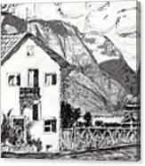 Swiss Mountain Trail Canvas Print