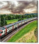 Swiss Passenger Train Canvas Print