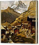 Swiss Travel Poster, 1898 Canvas Print