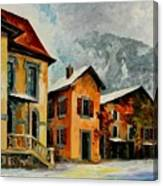 Switzerland - Town In The Alps Canvas Print