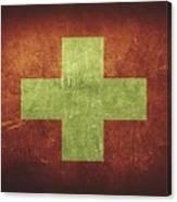 Switzerland Distressed Flag Dehner Canvas Print